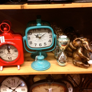 How can I do contest prep when I'm at Pier 1 having anxiety attacks about how many retro clocks to buy for my new place?